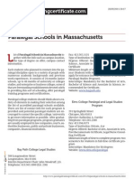 Paralegal Schools in Massachusetts