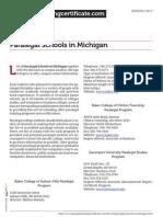 Paralegal Schools in Michigan
