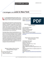Paralegal Schools in New York