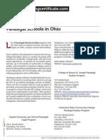 Paralegal Schools in Ohio
