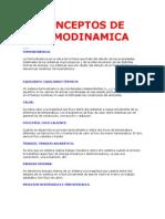 CONCEPTOS DE TERMODINAMICA