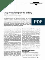 Prescribing for the Elderly