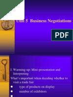 Unit 5 Business Negotiation