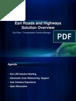 2011-09_Esri Roads and Highways Briefing