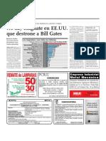 No Hay Magnate de EE.UU. Que Destrone a Bill Gates
