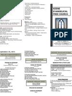 Church Bulletin -September 25th