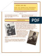 AFRS 10 - Intro to Africana Studies Syllabus