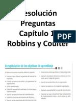 Resolución Preguntas Capítulo 1, Robbins y Coulter