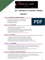 Planning Formation Classique