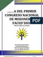 Acta Del I Congreso (Version Resumida)