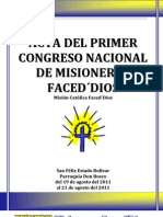 Acta del I Congreso (Versión Completa)