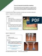 Pauta de ejercicios en el tratamiento de plantillas ortopédicas