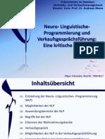 """""""Neurolinguistische Programmierung und Verkaufsgesprächsführung"""