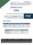 ValuEngine Weekly Newsletter September 23, 2011