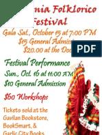California Folklorico Festival flyer