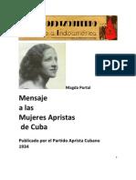 Magda Portal - Mensaje a Las Mujeres Apristas de Cuba
