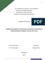 area Estetica Si Functional A a Grupului Frontam Maxilar Utilizand Sistemul Integral Ceramic IPS E-max