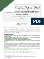 Poursuivons-Nous Les Salaf Salih