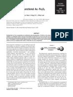 Dumbbell Like Bi Functional Au Fe3O4 Nano Particles