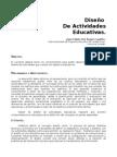 DISEÑO DE ACTIVIDADES EDUCATIVAS