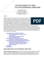 Users' Involvement in the Requirements Engineering Process