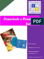 Relatório da densidade e densidade relativa