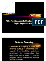 Planeamiento de Inglés  - English lessons Planning Costa Rica