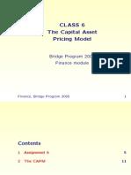 Tuck Bridge Finance Module 6