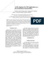 Defect Behavior in BF2 Implants for SD Applications as a Function of Ion Beam Characteristics