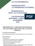 Prevencion y Atencion Psicosocial de Factores Que Afectan