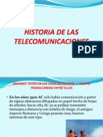 Comunicaciones 1 Historia de Las Telecomunicaciones 1