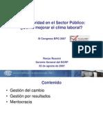 Productividad en el Sector Público, Cómo mejorar el clima laboral - IF