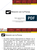 Relación con la Prensa - GP