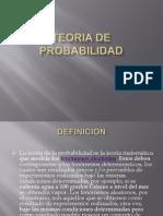 TEORIA DE PROBABILIDAD