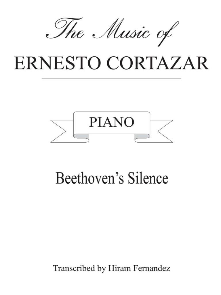Ernesto Cortazar Beethovens Silense – Beethoven Worksheet