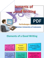 Elements of a Good Writing