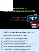 Introduction to Reading Comprehension Skills