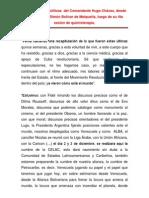 Orientaciones  Politicas del  Comandante Hugo  Chávez, Desde el Aeropuerto Simon Bolivar de Maiquetia.