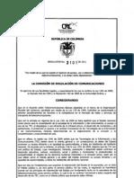 CRC Resolucion 3101 de 2011(1)