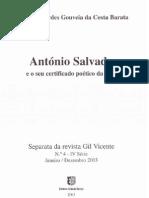 António Salvado e o seu certificado poético da vida