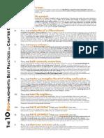 Chapter Development Roo-Mandments