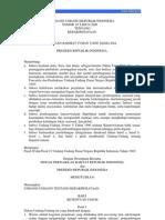 Undang Undang Tahun 2009-10-09 Kepariwisataan