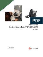 Manual de Usuario teléfono Polycom 320 - Ingles