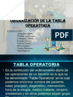 Tabla Operatoria