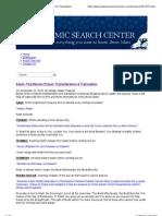 Transliteration & Translation