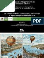 Presentación Un área de Medicina Aeroespacial y Telesalud en la Agencia Espacial Mexicana AEM