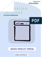Manual Book Dishwasher 6150X