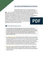 Undergraduate Journal Submission Criteria - Revised