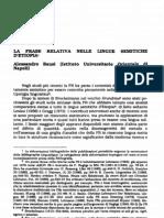 Bausi 1990 La Frase Relativa