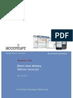 Accenture CAS Direct Store Delivery Webinar Transcript